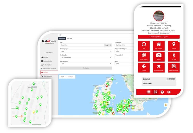 ratelcom din digitale platform som giver overblik over rottebekæmpelsen